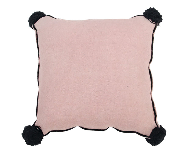 Square Pom Pom Pillow - Vintage Nude