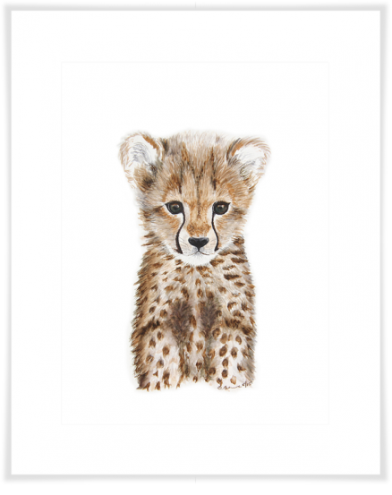 Curated Nest: Nurseries and Design - Safari Baby Cheetah Portrait - Art