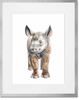 Curated Nest: Nurseries and Design - Safari Baby Rhino Portrait - Art