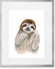 Curated Nest: Nurseries and Design - Safari Baby Sloth Portrait - Art