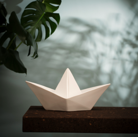 Curated Nest: Nurseries and Design - Origami Boat Lamp Night Light - Lighting