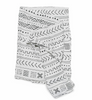 Curated Nest: Nurseries and Design - Luxe Muslin Swaddle - White Mudcloth - Blanket