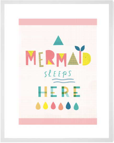Curated Nest: Nurseries and Design - Mermaid Sleeps Here Print - Art