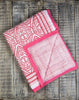Southside Pink Natural Cotton Handmade Quilt