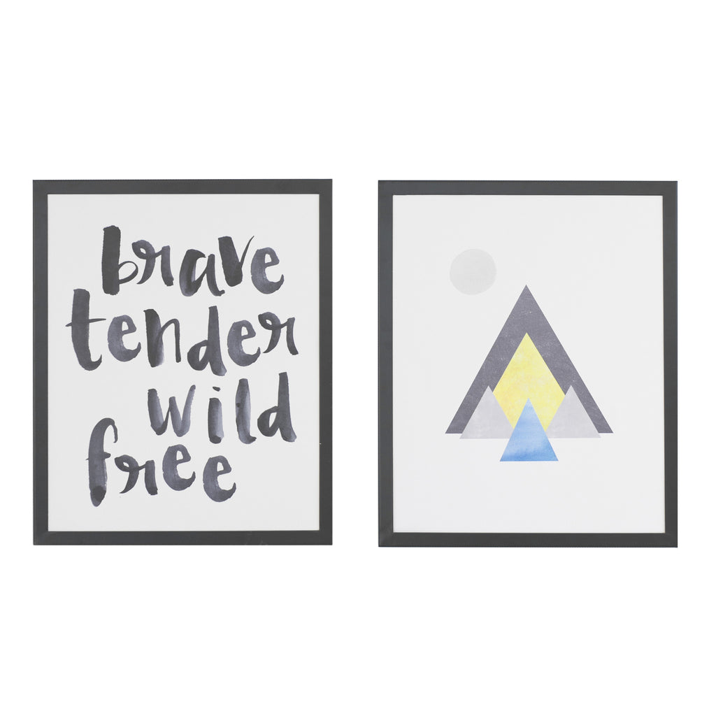 Curated Nest. Custom Design Baby Nursery Room. Products. Decor. Art, Wall. Brave & Tender Art Prints - Set of 2.