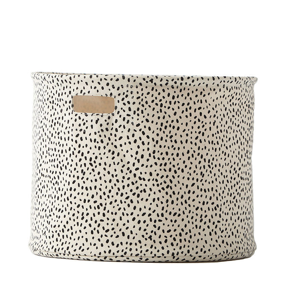 Curated Nest: Nurseries and Design - Black Speck Storage Drum - Storage