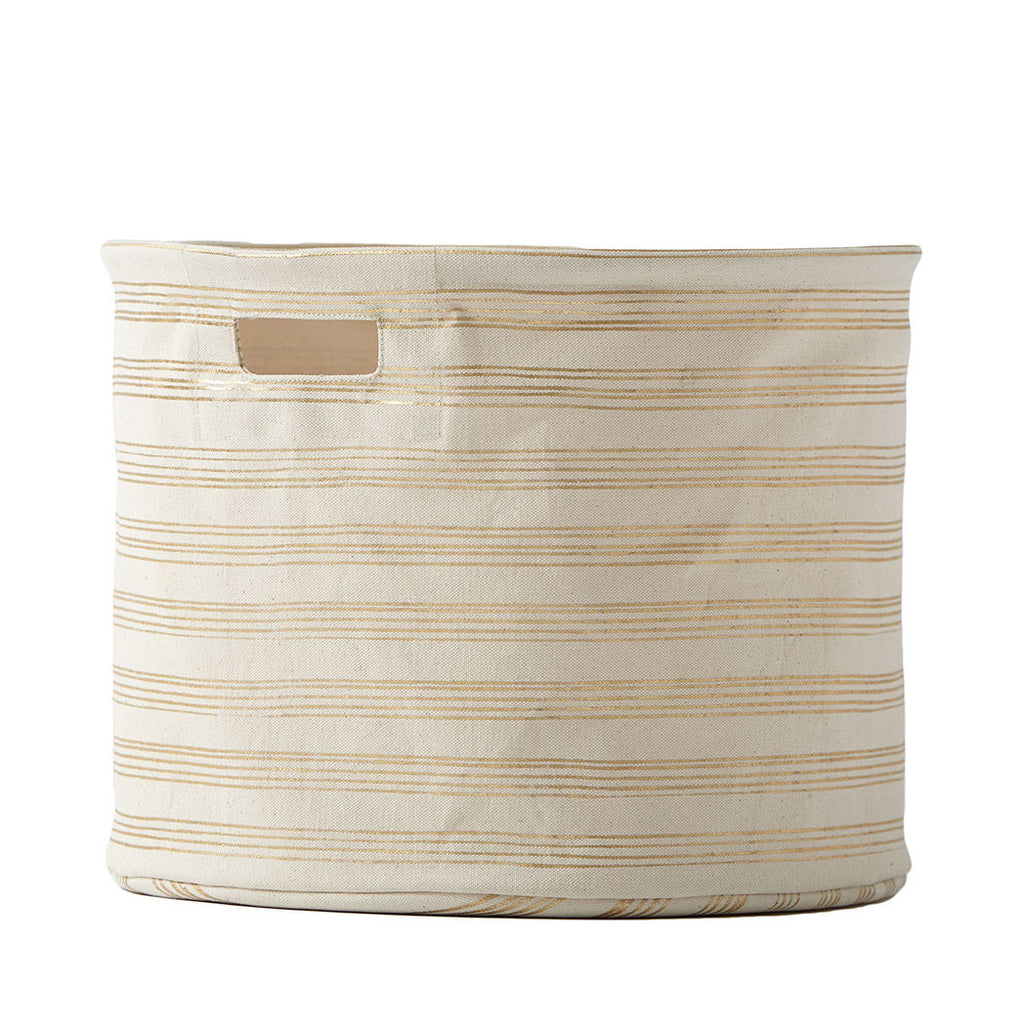 Gold Stripes Storage Drum