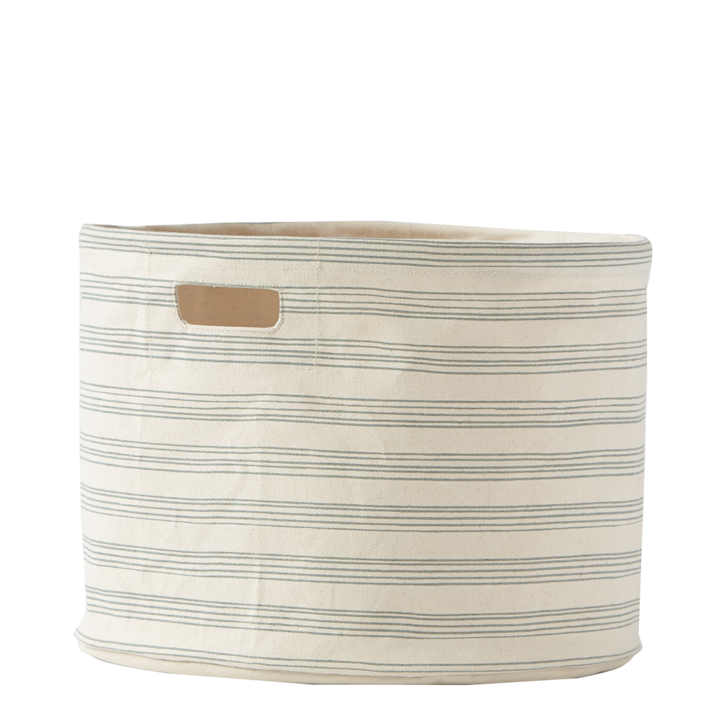 Light Blue Mist Stripes Storage Drum