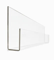 Booksee Clear Acrylic Wall Bookshelf Set