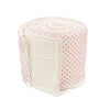 Curated Nest: Nurseries and Design - Crib Bumper in Pink Cross Stitch - Bumper