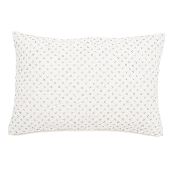 Lumbar Pillow in Cornflower Cross Stitch