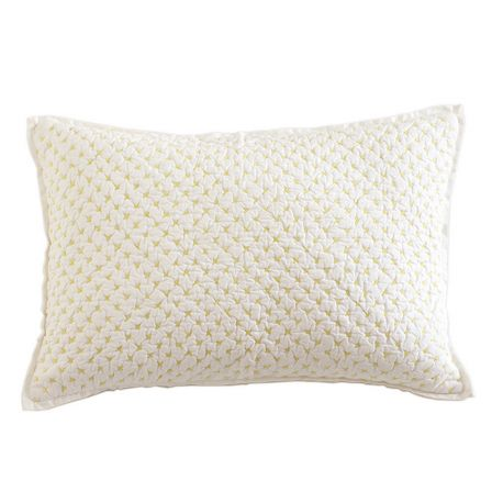 Curated Nest: Nurseries and Design - Lumbar Pillow in Fern Green Cross Stitch - pillow