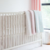 Curated Nest: Nurseries and Design - Crib Skirt in Grey Stripes - Crib Skirt