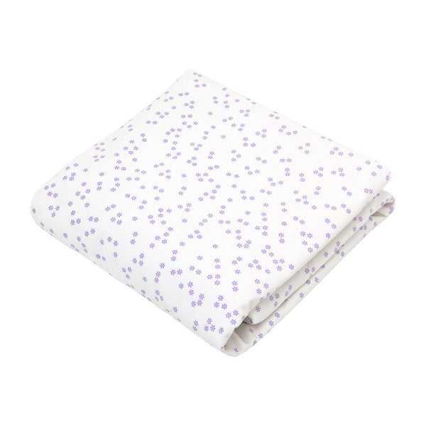 Crib Sheet in Lilac Flowers