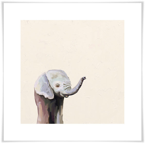 Baby Elephant Trunk-Up Print