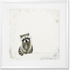 Curated Nest: Nurseries and Design - Baby Raccoon Pondering - Art