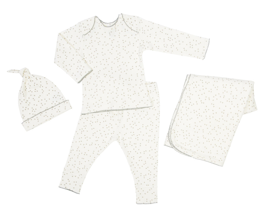 Curated Nest: Nurseries and Design - Organic Layette Gift Set in Pebble Grey - Gifts