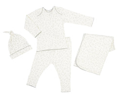 Organic Layette Gift Set in Pebble Grey