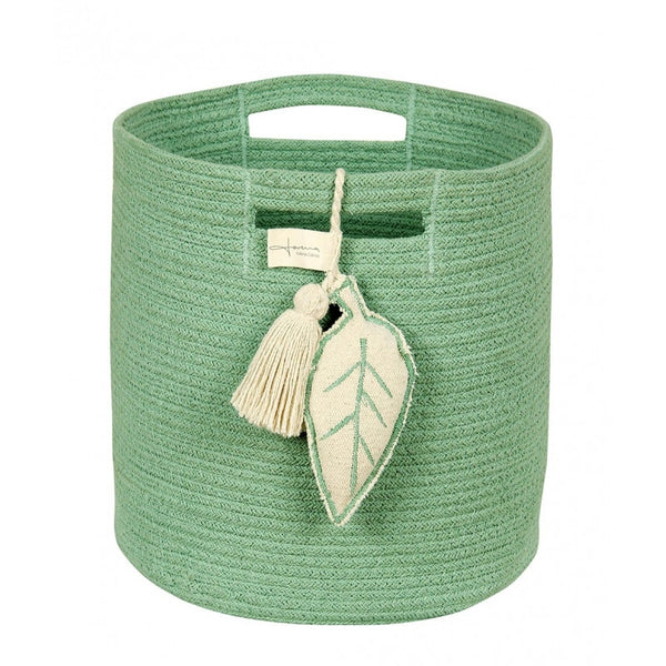 Curated Nest: Nurseries and Design - Green Rope Basket - Storage