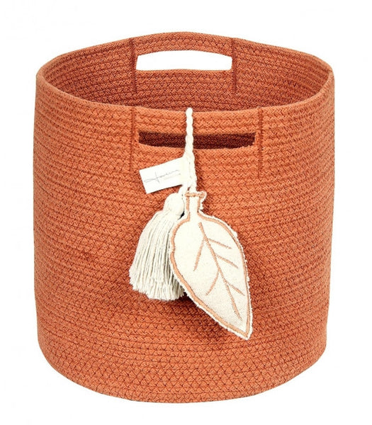 Curated Nest: Nurseries and Design - Burnt Orange Rope Basket - Storage