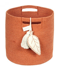 Burnt Orange Rope Basket