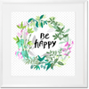 Curated Nest: Nurseries and Design - Be Happy Art Print - Art