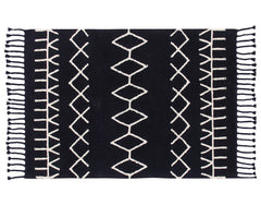 Washable Bereber Rug - Black