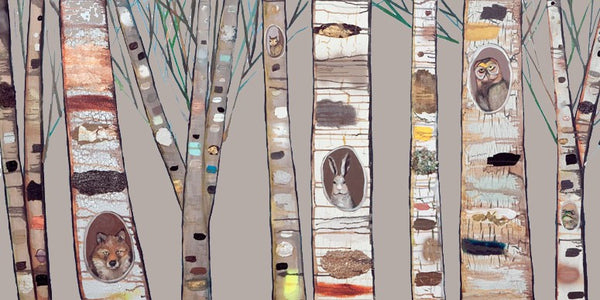 Curated Nest: Nurseries and Design - Birch Trees on Canvas - Art