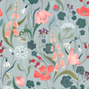 Curated Nest: Nurseries and Design - Blu Bell Wallpaper - wallpaper