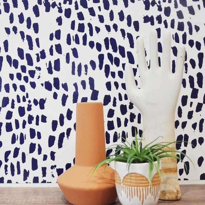 Curated Nest: Nurseries and Design - Brush Prints Wallpaper - wallpaper