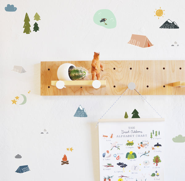Curated Nest: Nurseries and Design - Camping Adventure Decals - Decal