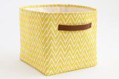 Citrus Chevrons Storage Bins (Set of 3)