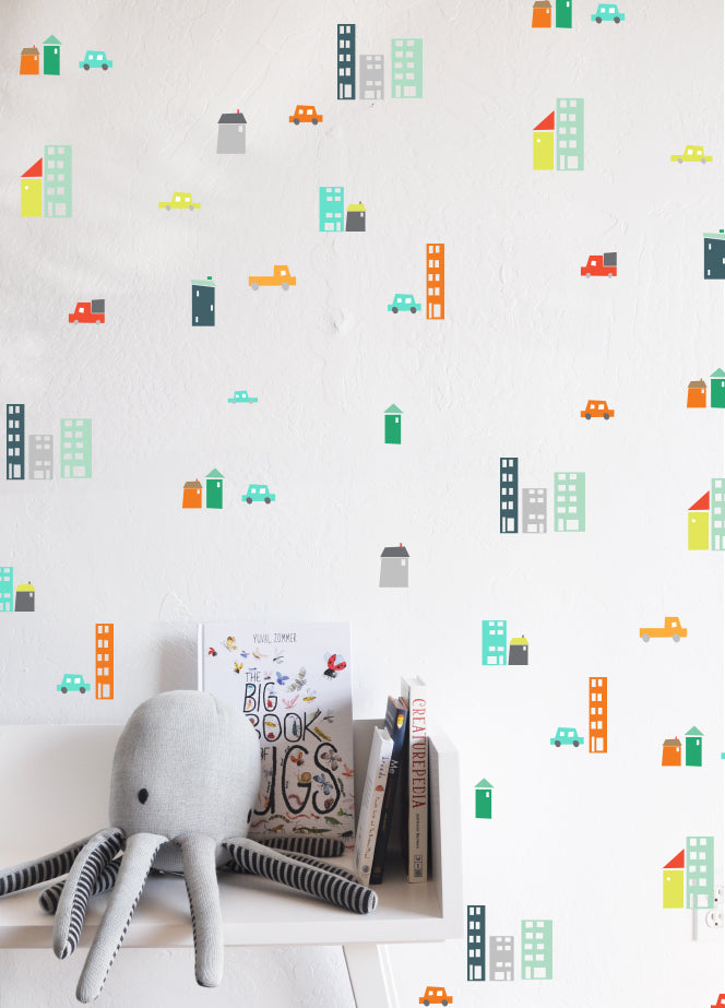Curated Nest: Nurseries and Design - City Traffic Decals - Decal
