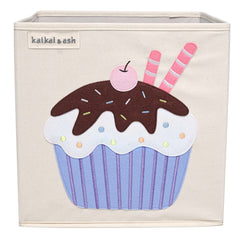 Canvas Storage Box - Chocolate Cupcake