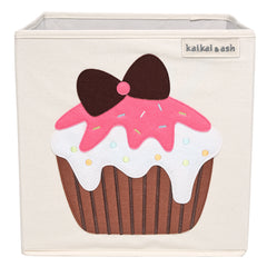 Canvas Storage Box - Strawberry Cupcake