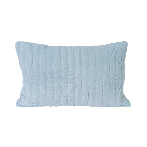 Lumbar Pillow in Cornflower Velvet
