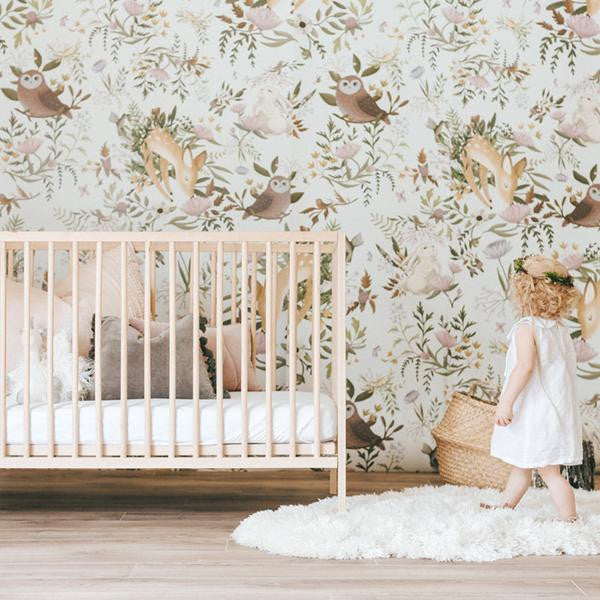 Curated Nest: Nurseries and Design - Oh Deer! Wallpaper - wallpaper
