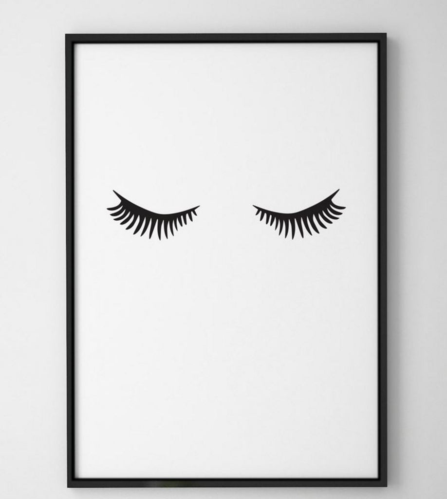 Curated Nest: Nurseries and Design - Mascara Lashes - Art Print - Art