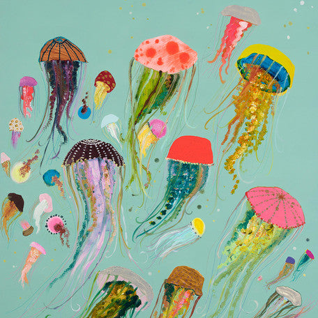 Curated Nest: Nurseries and Design - Happy Jellies on Canvas - Art