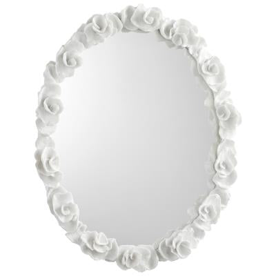 Curated Nest: Nurseries and Design - Intricate White Floral Mirror - Custom