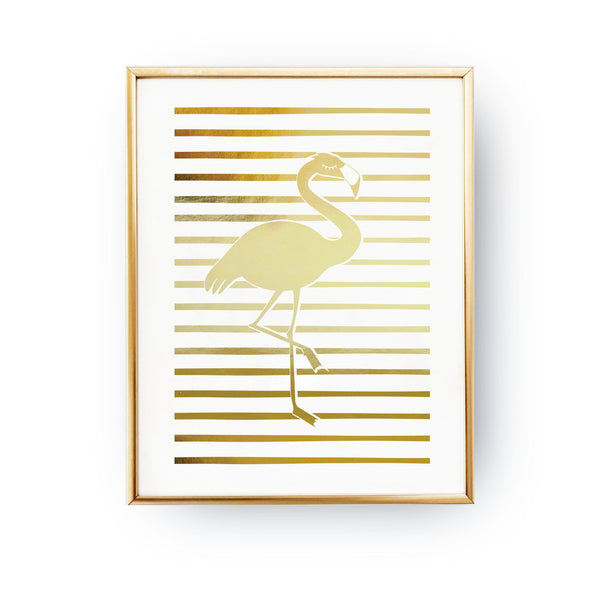 Flamingo Gold Foil Art