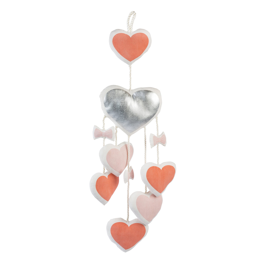 Curated Nest: Nurseries and Design - Coral Hearts Mobile - Accessories