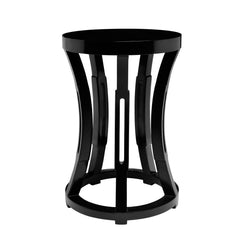 Hourglass Accent Table - Black