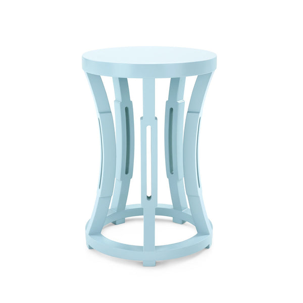 Hourglass Accent Table - Powder Blue