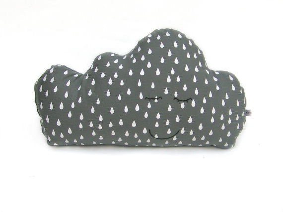 Sleepy Cloud Pillow - Grey
