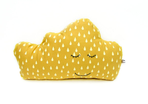 Sleepy Cloud Pillow - Sunshine Yellow
