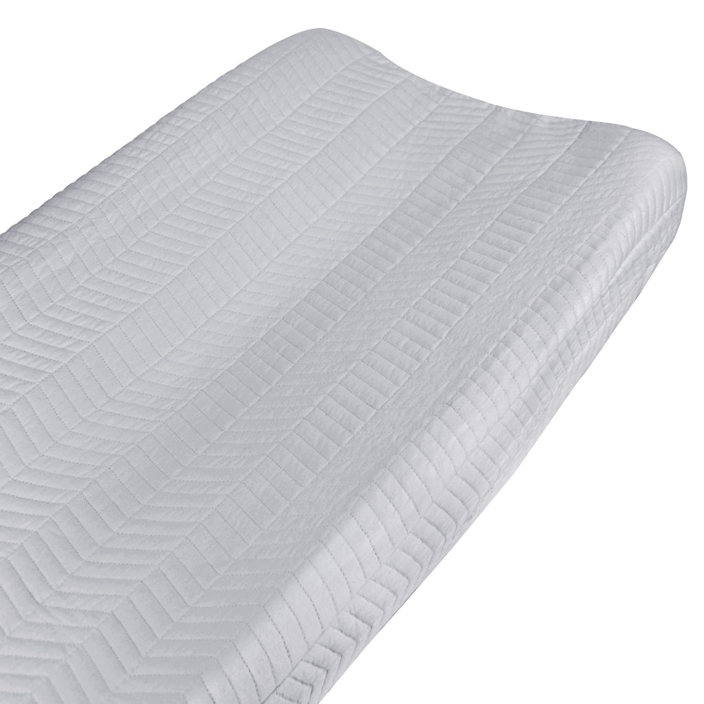 Curated Nest: Nurseries and Design - Organic Gray Chevron Changing Pad Cover - Changing pad cover
