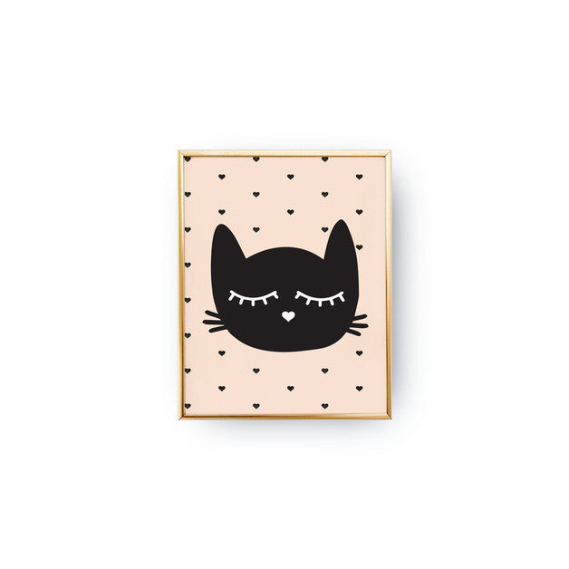Curated Nest: Nurseries and Design - I Heart Kitty - Art Print - Art