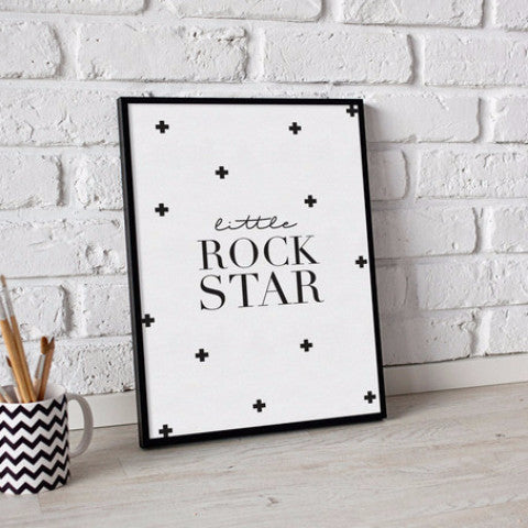 Curated Nest: Nurseries and Design - Little Rock Star - Art Print - Art