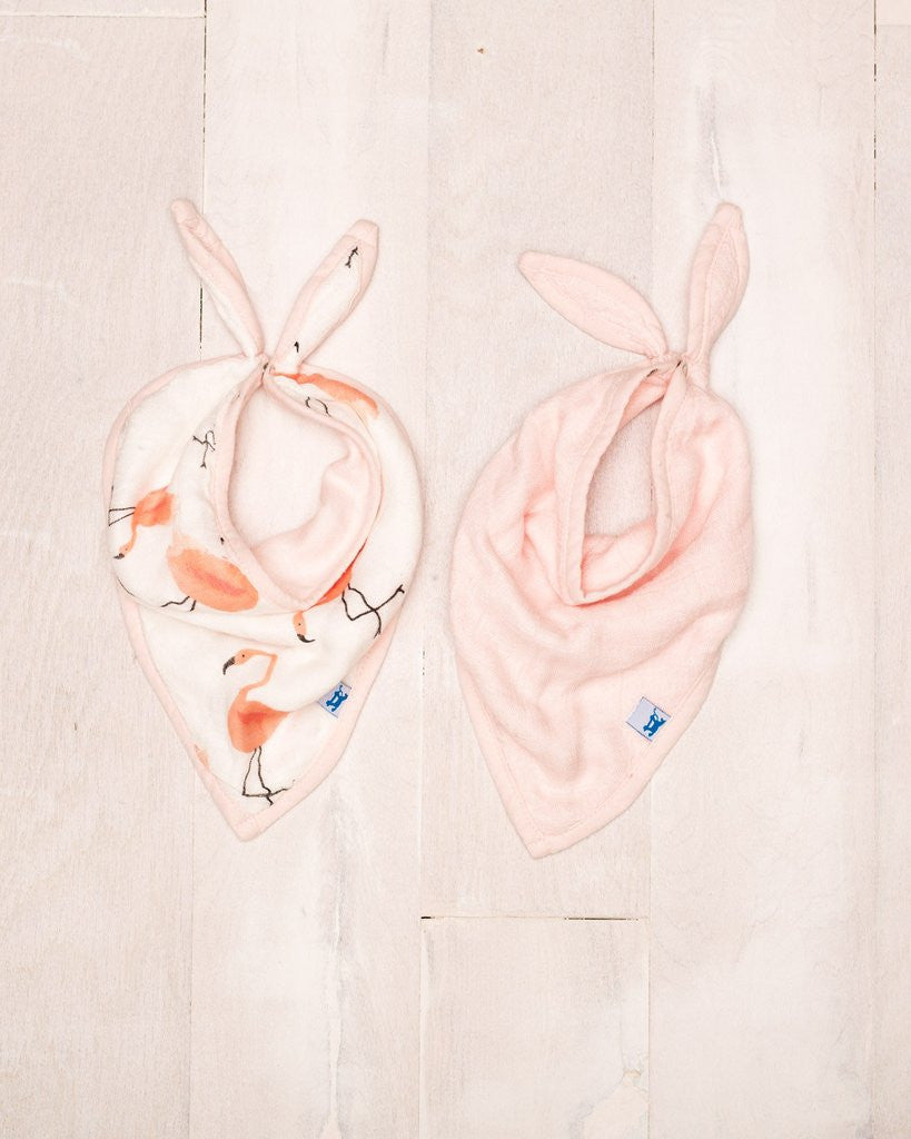 Curated Nest: Nurseries and Design - Deluxe Muslin Bandana Bib - Pink Ladies - Gifts